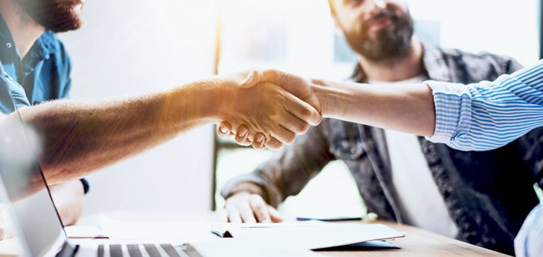 Face-2-Face Telecommunications Technologies handshake image