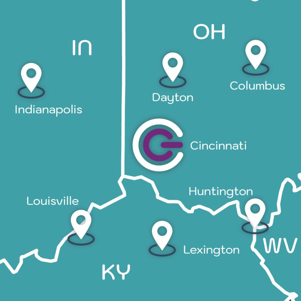 G&C Location Service Area MAp.